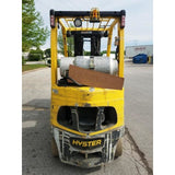 2011 HYSTER S50FT 5000 LB LP GAS FORKLIFT CUSHION 84/240 QUAD MAST SIDE SHIFTER 12509 HOURS STOCK # BF952099-999-CONB