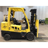 "2013 HYSTER S80FT 8000 LB LP GAS FORKLIFT CUSHION 82/121"" 2 STAGE MAST FULL FREE LIFT SIDE SHIFTER STOCK # BF9134789-189-CONB"