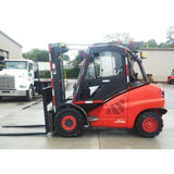 2007 LINDE H50D 11000 LB DIESEL FORKLIFT PNEUMATIC 2 STAGE MAST 96/123 SIDE SHIFTING FORK POSITIONER 1677 HOURS STOCK # BF9394829-499-CONB