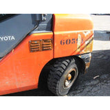 2013 TOYOTA 8FGU30 6000 LB LP GAS FORKLIFT PNEUMATIC 86/187 3 STAGE MAST ENCLOSED CAB SIDE SHIFTING FORK POSITIONER 7446 HOURS STOCK # BF9186749-289-CONB