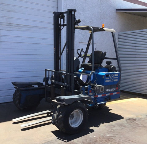 "2006 PRINCETON PB70 7000 LB DIESEL ROUGH TERRAIN FORKLIFT PNEUMATIC 144"" 2 STAGE MAST 1372 HOURS STOCK # BF91898879-HMAZ"