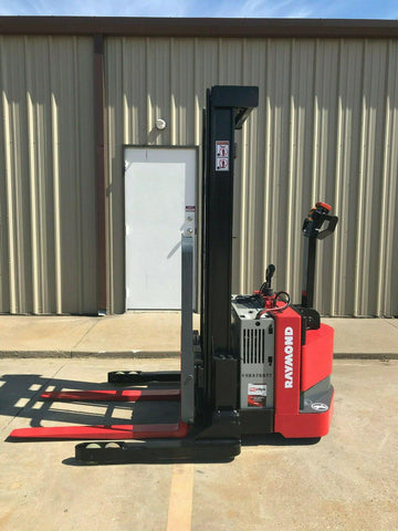 2010 RAYMOND RSS40 4000 LB ELECTRIC FORKLIFT WALKIE STACKER CUSHION SIDE SHIFTER 5093 HOURS STOCK # 7586-467377-ARB