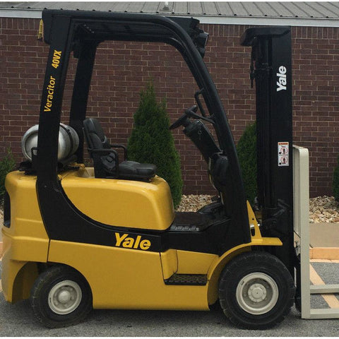 2007 YALE GLP040 4000 LB LP GAS FORKLIFT PNEUMATIC 84/130 2 STAGE MAST 4617 HOURS STOCK # 8967-02755E-ARB - United Lift Used & New Forklift Telehandler Scissor Lift Boomlift