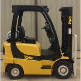 2007 YALE GLP040 4000 LB LP GAS FORKLIFT PNEUMATIC 84/130 2 STAGE MAST 6285 HOURS STOCK # 9732-02727E-ARB - Buffalo Forklift LLC