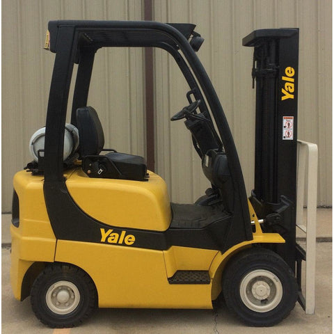 2007 YALE GLP040 4000 LB LP GAS FORKLIFT PNEUMATIC 84/130 2 STAGE MAST 6285 HOURS STOCK # 9732-02727E-ARB - united-lift-equipment
