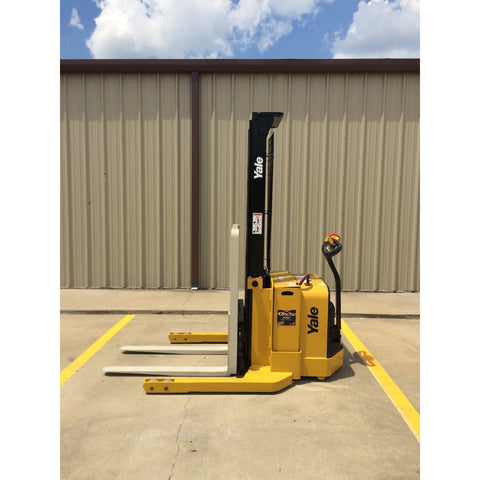 2009 YALE MSW040SFN24TV087 4000 LB ELECTRIC FORKLIFT WALKIE STACKER CUSHION 87/130 2 STAGE MAST 1405 HOURS STOCK # 7097-01830G-ARB **OWN FOR ONLY $190 PER MONTH**