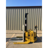2004 YALE MSW040SEN24TV087 4000 LB ELECTRIC FORKLIFT WALKIE STACKER CUSHION 87/130 2 STAGE MAST 669 HOURS STOCK # 5380-02712B-ARB