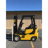 2006 YALE GLP040 4000 LB LP GAS FORKLIFT PNEUMATIC 84/130 2 STAGE MAST 7616 HOURS STOCK # 9333-01793D-ARB