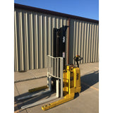 2004 YALE MSW040SEN24TV087 4000 LB ELECTRIC FORKLIFT WALKIE STACKER CUSHION 87/130 2 STAGE MAST 669 HOURS STOCK # 5380-02712B-ARB **OWN FOR $183 PER MONTH ** - united-lift-equipment