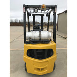 2006 YALE GLP040 4000 LB LP GAS FORKLIFT PNEUMATIC 84/130 2 STAGE MAST 3646 HOURS STOCK # 9758-01800D-ARB