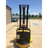 2010 YALE MSW040SFN24TV087 4000 LB ELECTRIC FORKLIFT WALKIE STACKER CUSHION 87/130 2 STAGE MAST 1653 HOURS STOCK # 7437-02333H-ARB