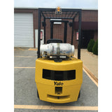 2005 YALE GLP040 4000 LB LP GAS FORKLIFT PNEUMATIC 84/130 2 STAGE MAST 5675 HOURS STOCK # 8121-04409C-ARB - united-lift-equipment