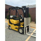 2007 YALE GLP040 4000 LB LP GAS FORKLIFT PNEUMATIC 84/130 2 STAGE MAST 4617 HOURS STOCK # 8967-02755E-ARB - united-lift-equipment