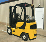 "2007 YALE GLP040 4000 LB LP GAS FORKLIFT PNEUMATIC 84/130"" 2 STAGE MAST 2441 HOURS STOCK # BF975129-ARB"