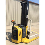 2009 YALE MSW040SEN24TV087 4000 LB ELECTRIC FORKLIFT WALKIE STACKER CUSHION 2 STAGE MAST STOCK # BF979549-119-ARB - Buffalo Forklift LLC