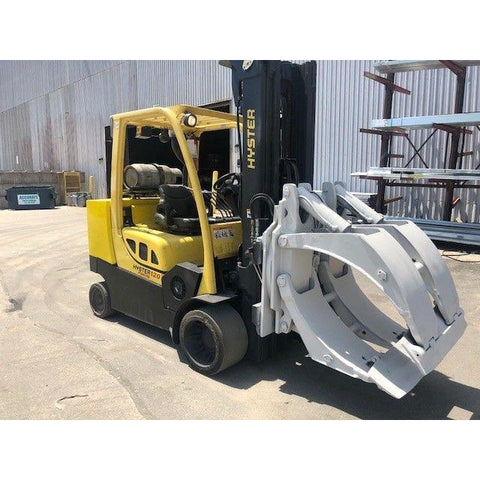 2008 HYSTER S120FTPRS 12000 LB GAS FORKLIFT CUSHION 100/208 3 STAGE MAST ROLL CLAMP 7200 HOURS STOCK # BF9224659-399-PBAY