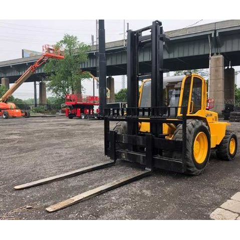 2007 SELLICK S120 12000 LB DIESEL ROUGH TERRAIN FORKLIFT 129/168 2 STAGE MAST ENCLOSED HEATED CAB 3240 HOURS STOCK # BF9455789-549-NLEB