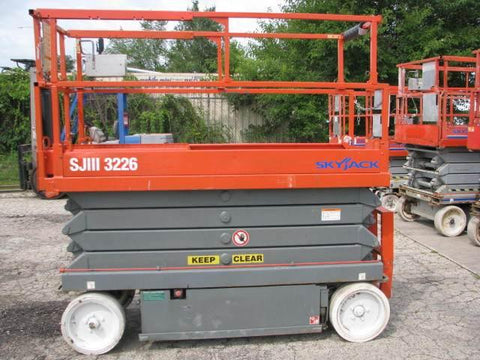 2008 SKYJACK SJIII3226 SCISSOR LIFT 26' REACH ELECTRIC CUSHION TIRES 140 HOURS STOCK # BF951549-WIBIL