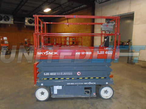 2013 SKYJACK SJ4632 SCISSOR LIFT 32' REACH ELECTRIC SMOOTH CUSHION TIRES 227 HOURS STOCK # BF969519-WIBTN