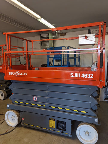 2012 SKYJACK SJIII4632 SCISSOR LIFT 32' REACH ELECTRIC SMOOTH CUSHION TIRES 293 HOURS STOCK # BF974579-WIBIL - United Lift Used & New Forklift Telehandler Scissor Lift Boomlift