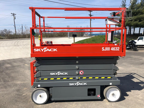 2019 SKYJACK SJIII4632 SCISSOR LIFT 32' REACH ELECTRIC SMOOTH CUSHION TIRES BRAND NEW STOCK # BF9185429-HLIL