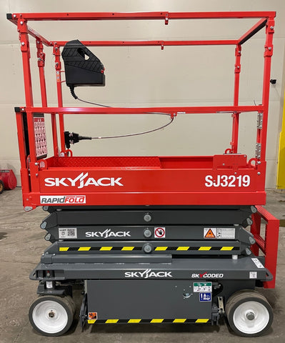 2021 SKYJACK SJIII 3219 SCISSOR LIFT 19' REACH ELECTRIC CUSHION TIRES BRAND NEW STOCK # BF999659-BUF - United Lift Equipment LLC