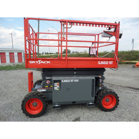 2018 SKYJACK SJ6832RT SCISSOR LIFT 32' REACH DIESEL PNEUMATIC TIRES 4X4 BRAND NEW STOCK # BF9339579-399-VAOH - United Lift Used & New Forklift Telehandler Scissor Lift Boomlift