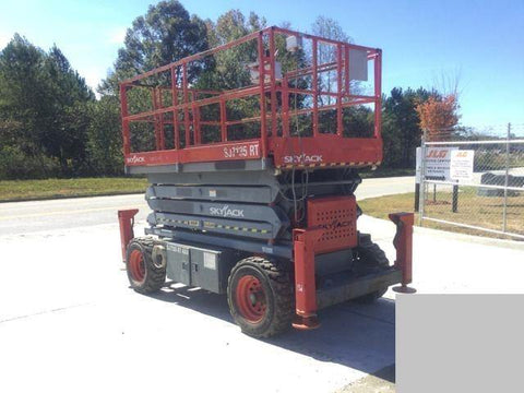 2007 SKYJACK SJ7135RT SCISSOR LIFT 35' REACH DUAL FUEL PNEUMATIC TIRES OUTRIGGERS 3451 HOURS STOCK # BF9129539-WIBGA