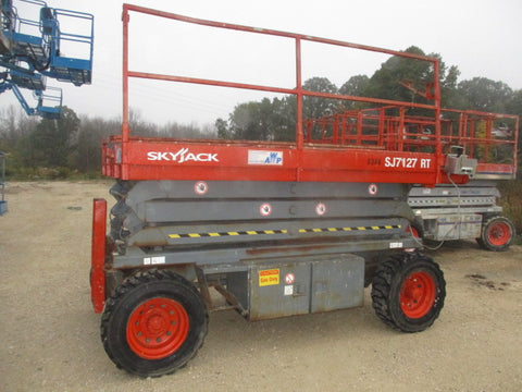 2007 SKYJACK SJ7127RT SCISSOR LIFT 27' REACH DUAL FUEL PNEUMATIC TIRES 1804 HOURS STOCK # BF989529-WIB - United Lift Used & New Forklift Telehandler Scissor Lift Boomlift
