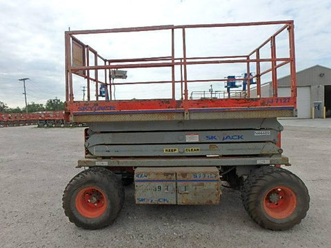 2006 SKYJACK SJ7127RT SCISSOR LIFT 27' REACH DUAL FUEL PNEUMATIC TIRES 2885 HOURS STOCK # BF985539-WIBOH