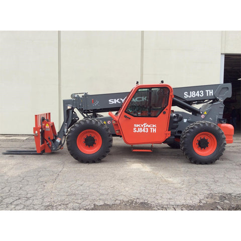2018 SKYJACK SJ843TH 8000 LB DIESEL TELESCOPIC FORKLIFT TELEHANDLER PNEUMATIC ENCLOSED CAB BRAND NEW STOCK # BF91006959-115-GND - United Lift Used & New Forklift Telehandler Scissor Lift Boomlift