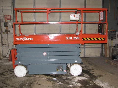 2008 SKYJACK SJ3226 SCISSOR LIFT 26' REACH ELECTRIC SMOOTH CUSHION TIRES 311 HOURS STOCK # BF957619-WIBIL