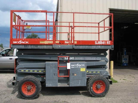2007 SKYJACK SJ8841RT SCISSOR LIFT 41' REACH DUAL FUEL ROUGH TERRAIN 2590 HOURS STOCK # BF9114509-WIBIL