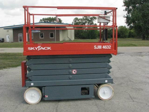 2012 SKYJACK SJIII4632 SCISSOR LIFT 32' REACH ELECTRIC SMOOTH CUSHION TIRES 269 HOURS STOCK # BF989529-WIB - United Lift Used & New Forklift Telehandler Scissor Lift Boomlift
