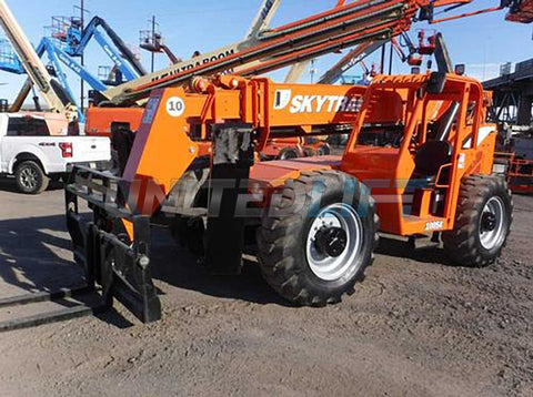 2012 SKYTRAK 10054 10000 LB DIESEL TELESCOPIC FORKLIFT TELEHANDLER PNEUMATIC 4WD OUTRIGGERS 3720 HOURS STOCK # BF9597519-NLEQ