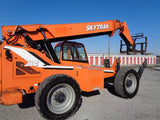 2014 SKYTRAK 10054 10000 LB DIESEL TELESCOPIC FORKLIFT TELEHANDLER PNEUMATIC 4WD ENCLOSED CAB 2350 HOURS STOCK # BF9513349-VAOH - United Lift Equipment LLC