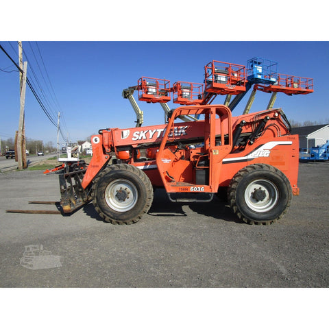 2007 SKYTRAK 6036 6000 LB DIESEL TELESCOPIC FORKLIFT TELEHANDLER PNEUMATIC 4WD ENCLOSED CAB 2797 HOURS STOCK # BF9347509-449-BNYB