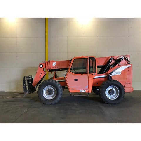 2007 SKYTRAK 8042 8000 LB DIESEL TELESCOPIC FORKLIFT TELEHANDLER ENCLOSED CAB PNEUMATIC 4WD STOCK # BF9349029-449-BUF