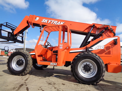 2013 SKYTRAK 8042 8000 LB DIESEL TELESCOPIC FORKLIFT TELEHANDLER PNEUMATIC 4WD 3355 HOURS STOCK # BF9461139-VAOH - United Lift Equipment LLC