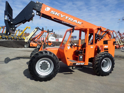 2019 SKYTRAK 8042 8000 LB DIESEL TELESCOPIC FORKLIFT TELEHANDLER PNEUMATIC 4WD BRAND NEW STOCK # BF91045989-129-VAOH - united-lift-equipment