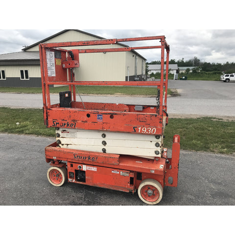 2006 SNORKEL S1930 SCISSOR LIFT 19' REACH 300 HOURS ELECTRIC SMOOTH CUSHION TIRES STOCK # BF937759-59-BUF - united-lift-equipment