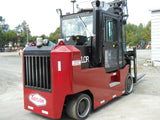 "2013 TAYLOR THC300S 30000 LB DIESEL FORKLIFT CUSHION 120/121"" 2 STAGE MAST ENCLOSED CAB SIDE SHIFTER 3597 HOURS STOCK # BF9591139-DIENC - United Lift Used & New Forklift Telehandler Scissor Lift Boomlift"