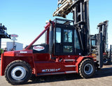 "2012 Taylor TX360L 36000 LB CAPACITY DIESEL FORKLIFT PNEUMATIC ENCLOSED CAB 204/264"" 2 STAGE MAST SIDE SHIFTING FORK POSITIONERS 13500 HOURS STOCK # BF91592269-JYCA"