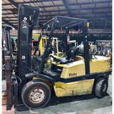 2003 YALE GLP100 10000 LB LP GAS FORKLIFT PNEUMATIC 99/196 3 STAGE MAST SIDE SHIFTER FORK POSITIONER STOCK # BF911529-PENC - united-lift-equipment