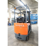 2013 TOYOTA 7FBCU15 3000 LB ELECTRIC FORKLIFT CUSHION 83/189 3 STAGE MAST SIDE SHIFTER 1760 HOURS STOCK # BF02762-DPA