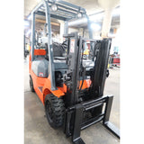 2006 TOYOTA 7FGCU20 4000 LB LP GAS FORKLIFT CUSHION 57/79 2 STAGE MAST SIDE SHIFTER HOURS STOCK # BF65186-DPA