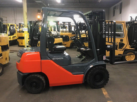 2016 TOYOTA 8FDU25 5000 LB DIESEL FORKLIFT PNEUMATIC 82/189 3 STAGE MAST SIDE SHIFTER 5300 HOURS STOCK # BF9139529-OLOH