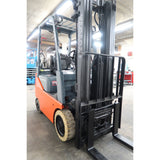 2010 TOYOTA 8FGCU15 3000 LB LP GAS FORKLIFT CUSHION 83/189 3 STAGE MAST SIDE SHIFTER STOCK # BF02764-DPA