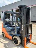 "2016 TOYOTA 8FGCU25 5000 LB LP GAS FORKLIFT CUSHION 88/258"" QUAD MAST SIDE SHIFTER 3201 HOURS STOCK # BF9252969-RIL"