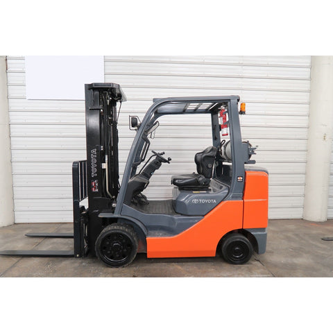 2013 TOYOTA 8FGCU30 6000 LB LP GAS FORKLIFT CUSHION 86/187 3 STAGE MAST SIDE SHIFTER 4197 HOURS STOCK # BF65194-DPA - united-lift-equipment